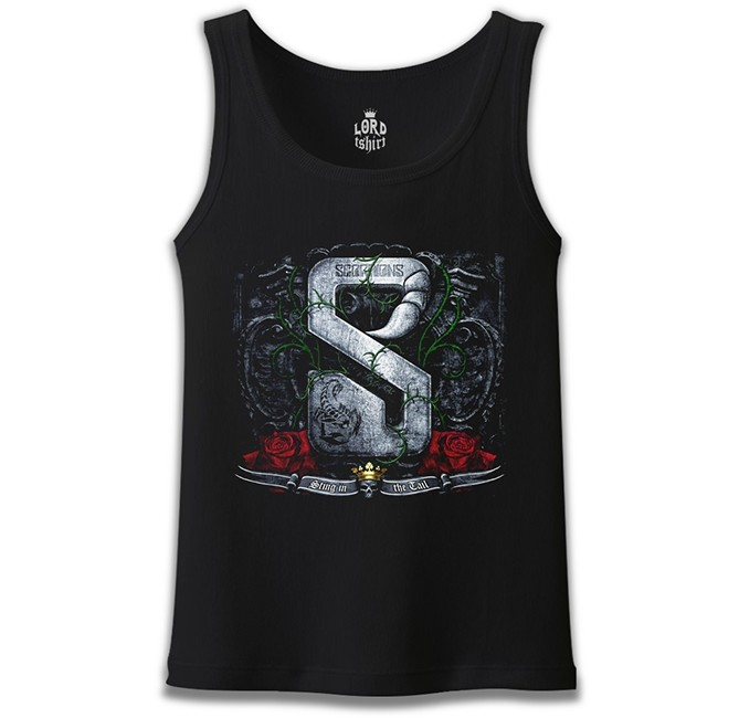 Lord Tshirt - Scorpions - Sting in the Tail Siyah Erkek Atlet
