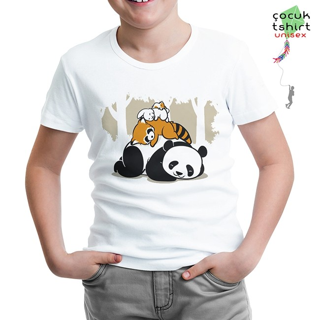 Lord Tshirt - Sleeping Four Beyaz Çocuk Tshirt