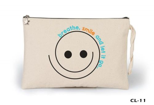 Smile and Let Go Ham Bez Clutch / El Çantası Astarlı