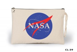 Lord Tshirt - Space - Nasa Ham Bez Clutch / El Çantası Astarlı