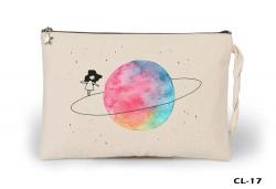 Lord Tshirt - Space - On the Saturn Ham Bez Clutch / El Çantası Astarlı