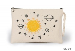 Lord Tshirt - Space - Orange Ham Bez Clutch / El Çantası Astarlı