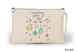 Lord Tshirt - Space - Prettier at Night Ham Bez Clutch / El Çantası Astarlı