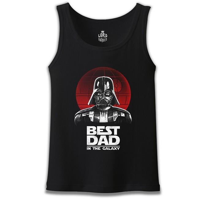 Lord Tshirt - Star Wars - Best Dad Siyah Erkek Atlet