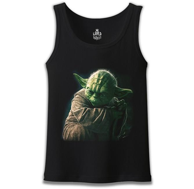 Lord Tshirt - Star Wars - Yoda 3 Siyah Erkek Atlet