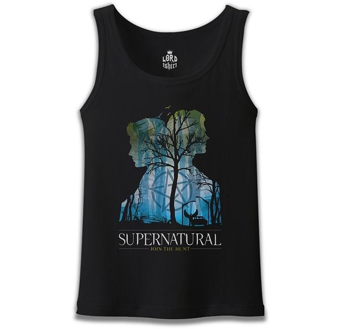 Lord Tshirt - Supernatural - Impala Siyah Erkek Atlet