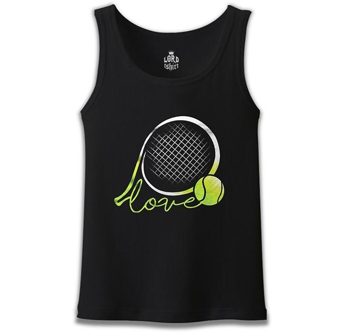 Lord Tshirt - Tenis - Love the Ball Siyah Erkek Atlet