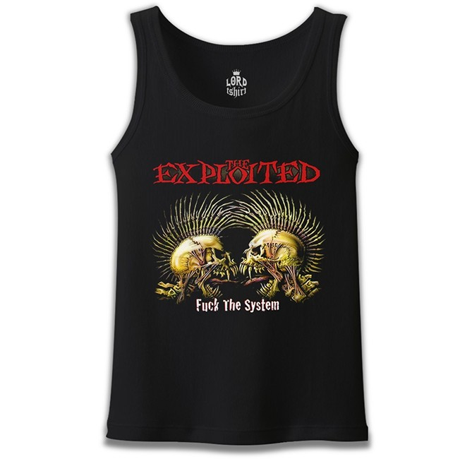 Lord Tshirt - The Exploited Siyah Erkek Atlet