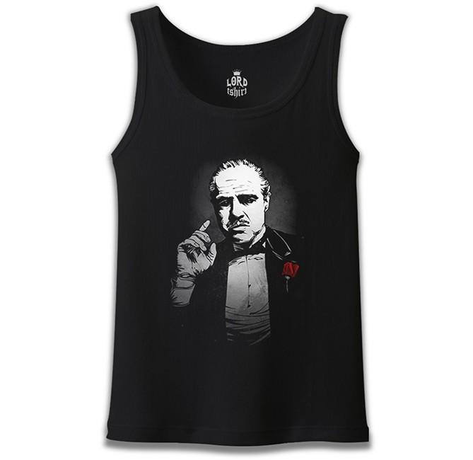 Lord Tshirt - The Godfather - The Rule Siyah Erkek Atlet