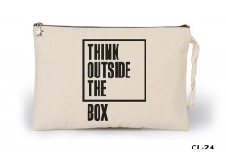 Lord Tshirt - Think Outside the Box Ham Bez Clutch / El Çantası Astarlı