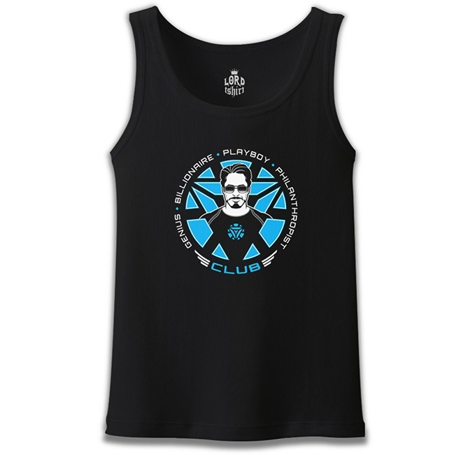 Lord Tshirt - Tony Stark - Club Siyah Erkek Atlet
