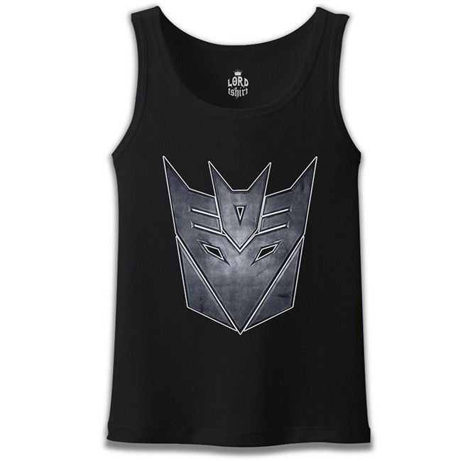 Lord Tshirt - Transformers Logo 2 Siyah Erkek Atlet