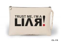 Lord Tshirt - Trust me I'am a Liar Ham Bez Clutch / El Çantası Astarlı