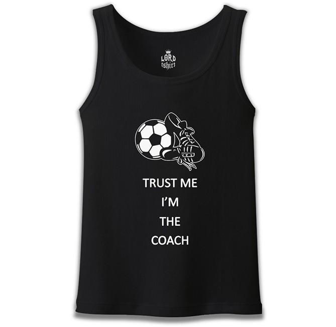 Lord Tshirt - Trust me I'm the Coach Siyah Erkek Atlet