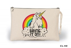 Lord Tshirt - Unicorn - Bring it on Ham Bez Clutch / El Çantası Astarlı