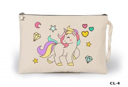 Lord Tshirt - Unicorn - Diamond Heart Ham Bez Clutch / El Çantası Astarlı