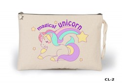 Lord Tshirt - Unicorn - Magical Ham Bez Clutch / El Çantası Astarlı
