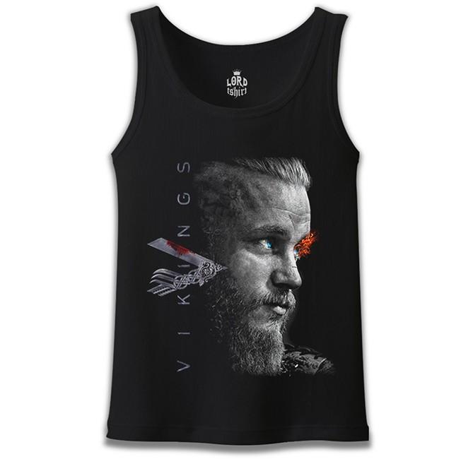 Lord Tshirt - Vikings - Ragnar II Siyah Erkek Atlet