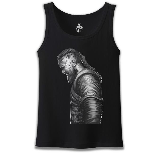 Lord Tshirt - Vikings - Ragnar III Siyah Erkek Atlet