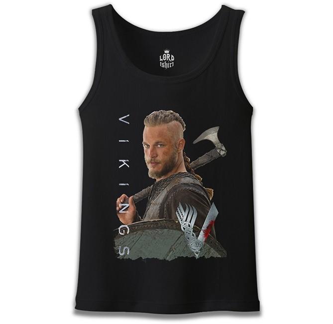Lord Tshirt - Vikings - Ragnar Siyah Erkek Atlet