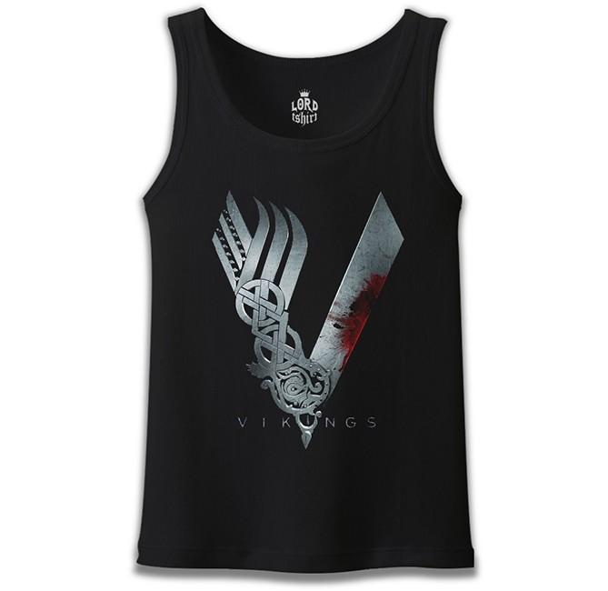Lord Tshirt - Vikings Siyah Erkek Atlet