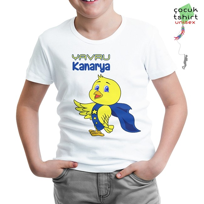 Lord Tshirt - Yavru Kanarya Beyaz Çocuk Tshirt
