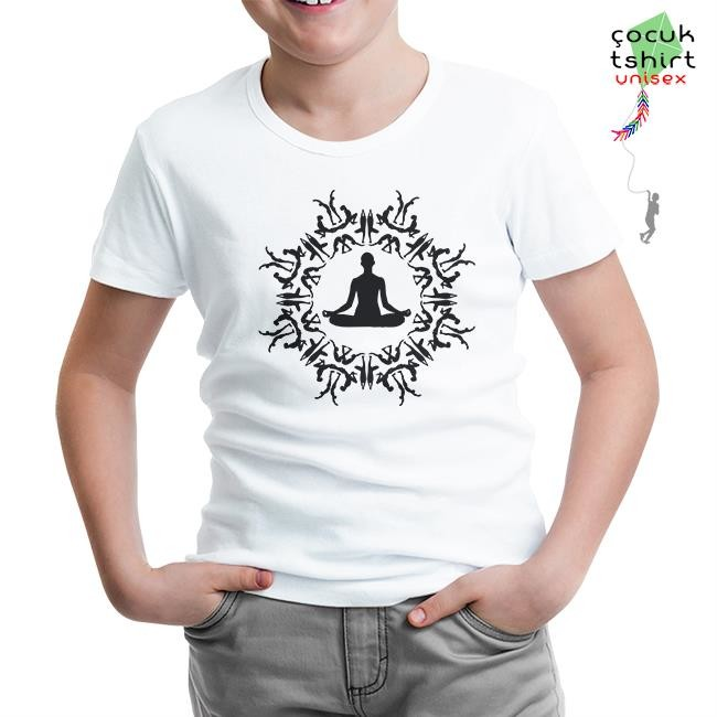 Lord Tshirt - Yoga - Meditasyon Beyaz Çocuk Tshirt